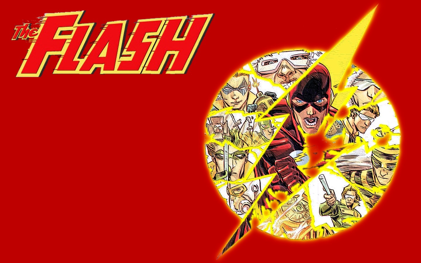 dc comics the flash simple background comic hero HD Wallpaper of 1440x900