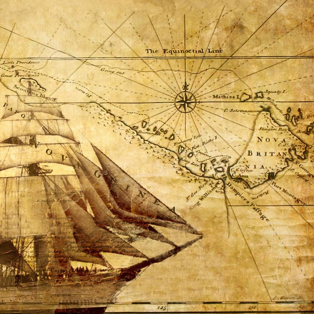 1024x1024px Old Map Wallpaper - WallpaperSafari
