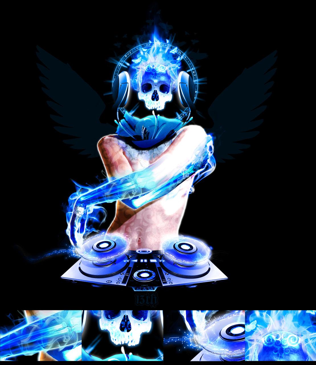 Blue Flaming Skull Wallpaper Flames 1110x1280