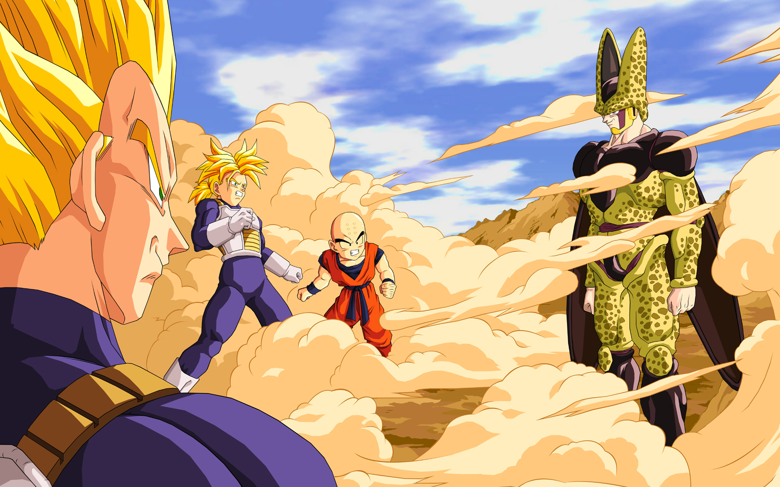 Download Vegeta Cell Trunks Dragon Ball Z Nostal Dragonball Wallpaper 1575x984