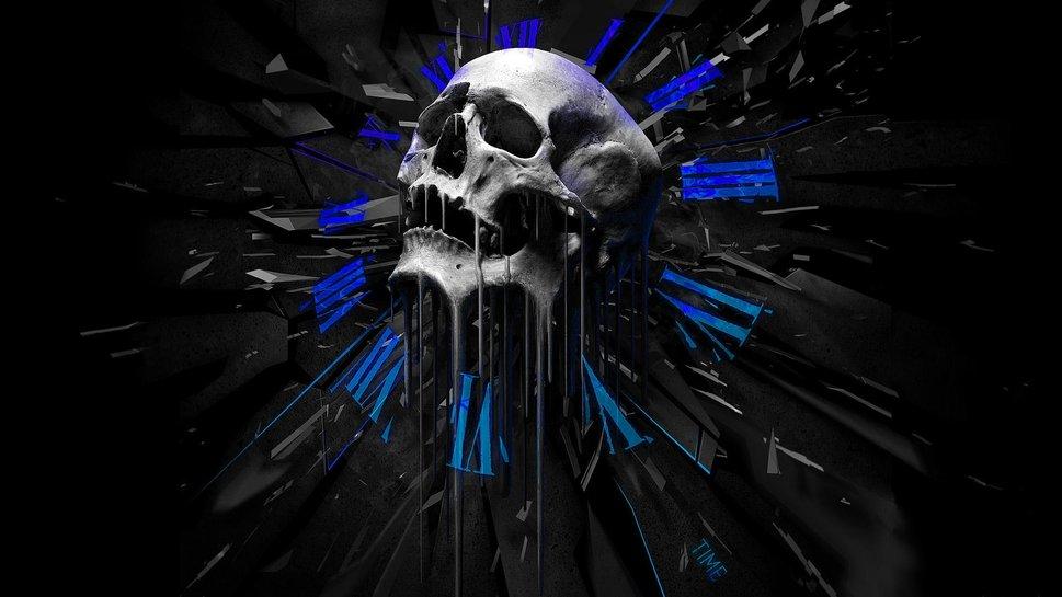 Flaming Skull Wallpapers Desktop Desktop Skull Wallpaper 969x545