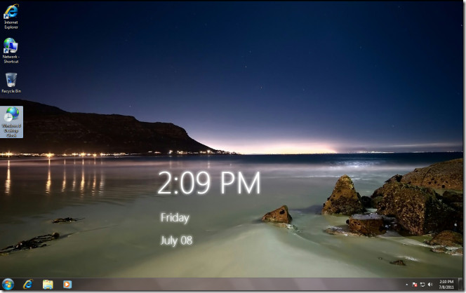 Download Windows 8 Desktop Clock for Windows 7 664x418