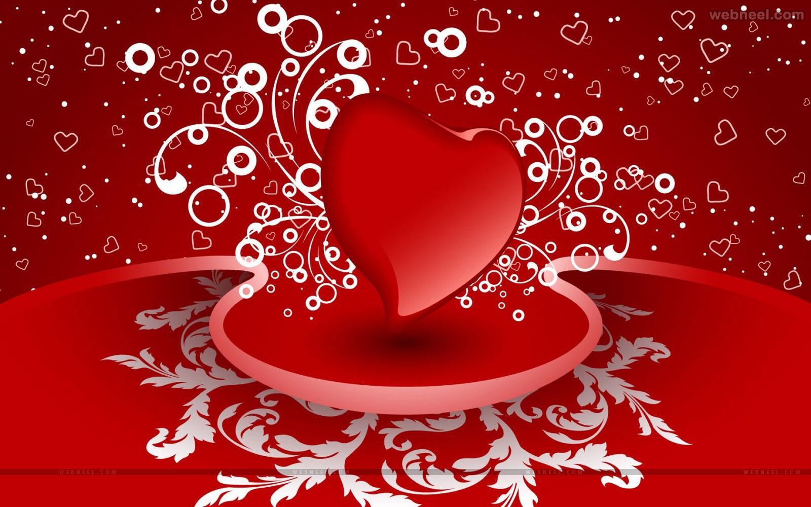 red heart romantic valentine wallpaper   o 1600x1000