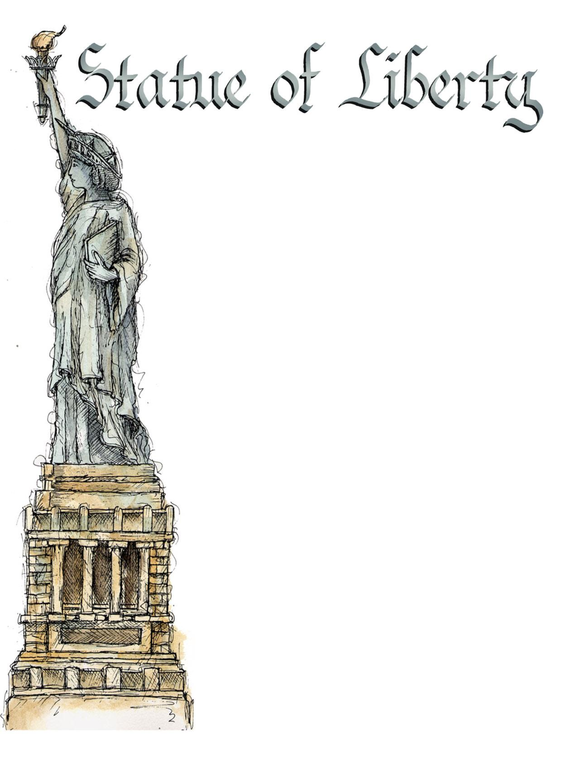 Statue of Liberty PPT Powerpoint Background 1125x1500