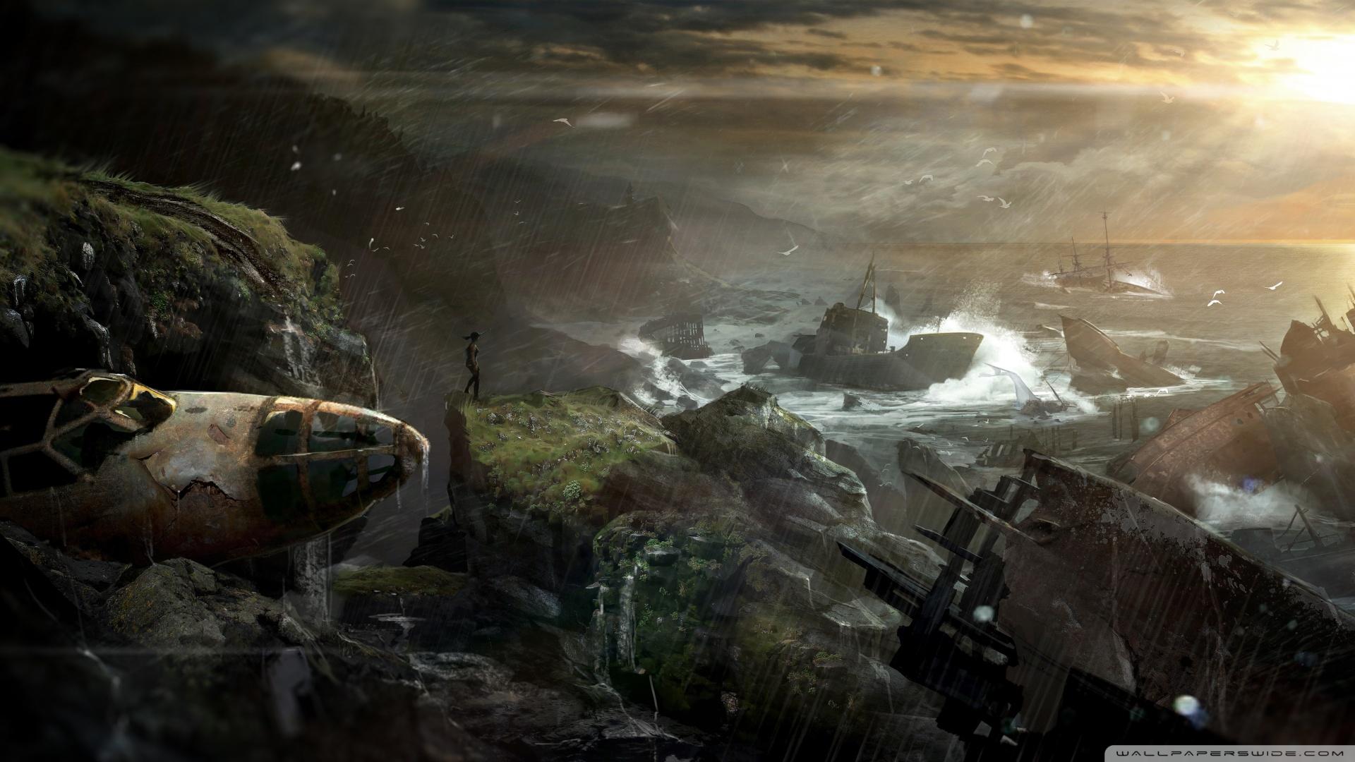 Tomb Raider 2012 Shipwreck Wallpaper 1920x1080 Tomb Raider 2012 1920x1080
