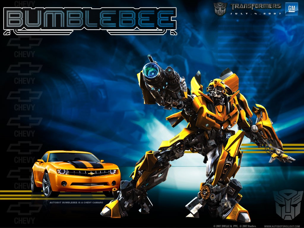 My Wallpapers   Movies Wallpaper Transformers   Bumblebee 1024x768