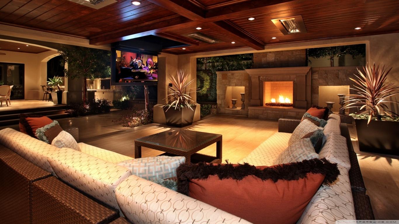 Luxury House Interior 4K HD Desktop Wallpaper for 4K Ultra HD 1366x768