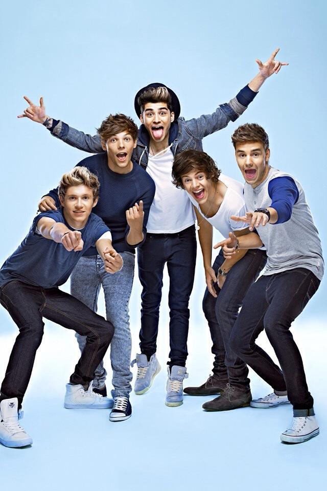 One Direction 2014 Blue iPhone Wallpaper iPod Wallpaper HD 640x960