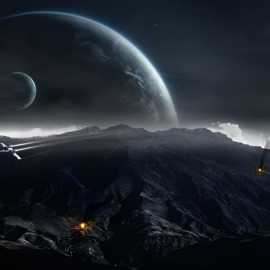 free dark space ipad backgrounds dark space ipad wallpapers 1024x1024