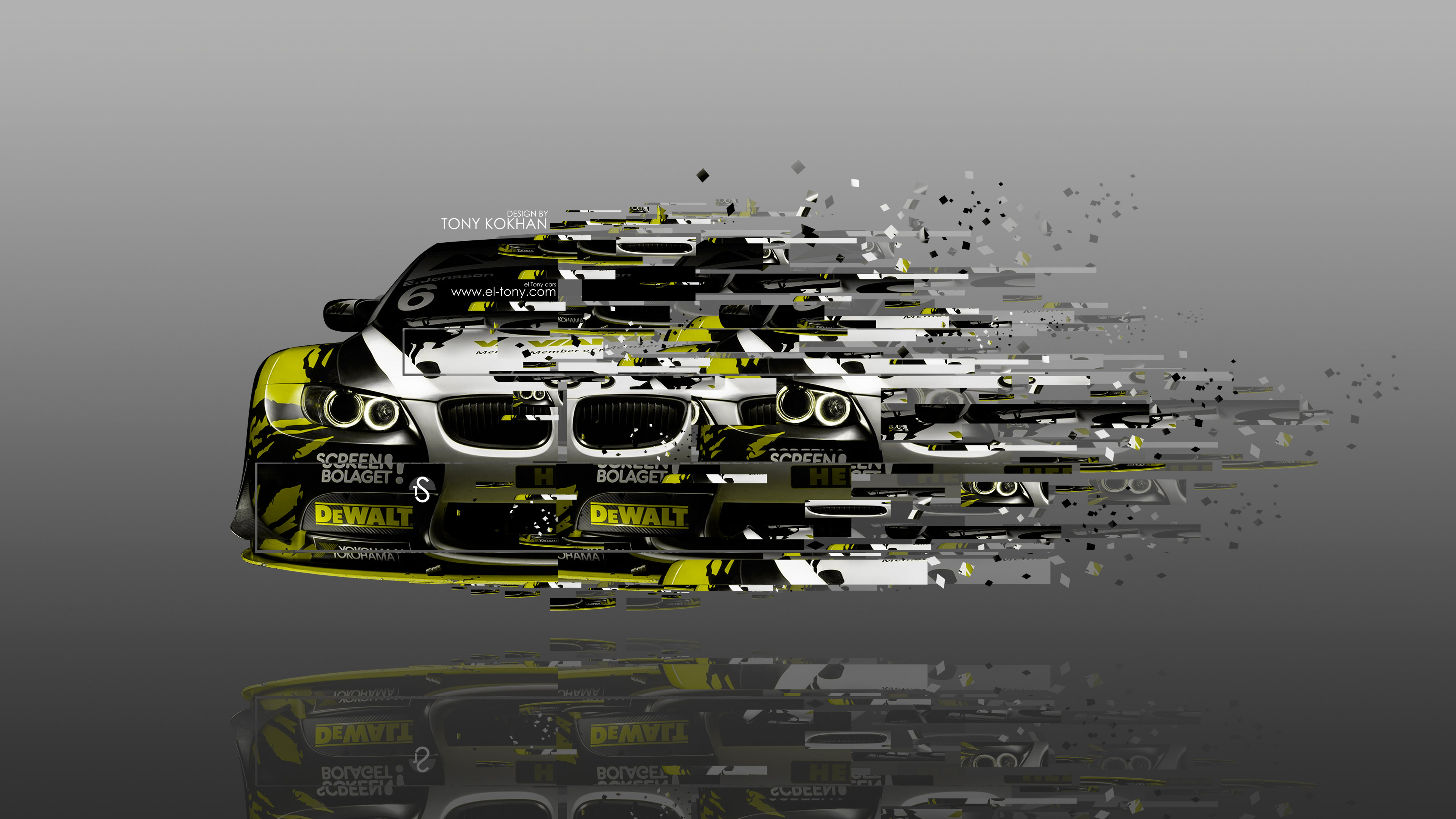 4K BMW M3 E92 Tuning Front Fantasy Transkinetiks Car 2014 el Tony 3840x2160
