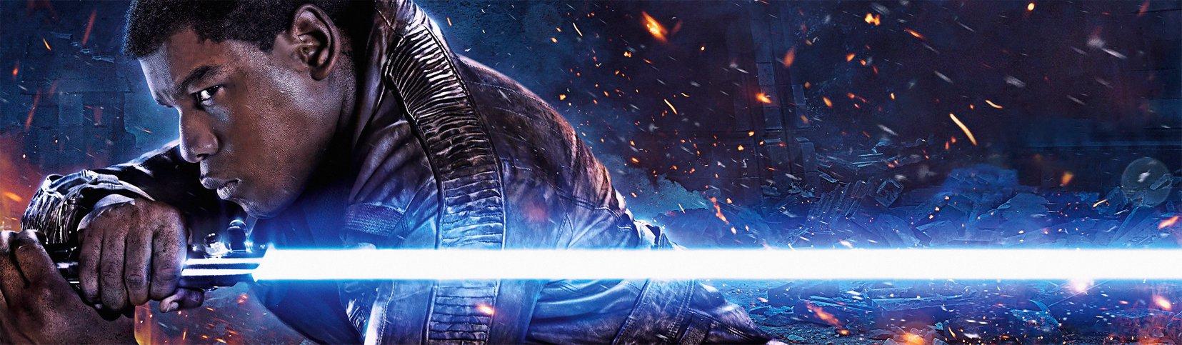 Star Wars Finn Banner [Hi Res Textless Wallpaper] by Lightsabered on 1655x483