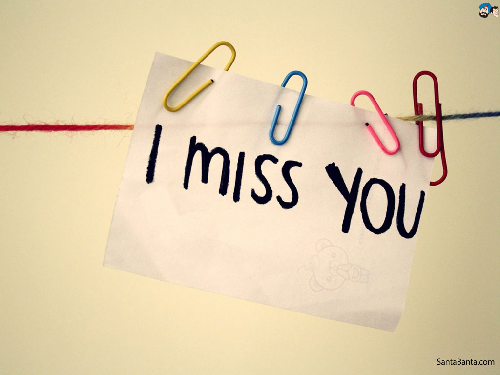 Download amazing hd i miss You typography wallpaper in high resolution 1024x768