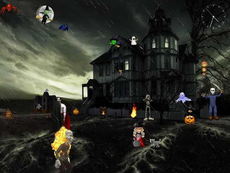 Halloween Screensaver   Dark Forces   FullScreensaverscom 800x600
