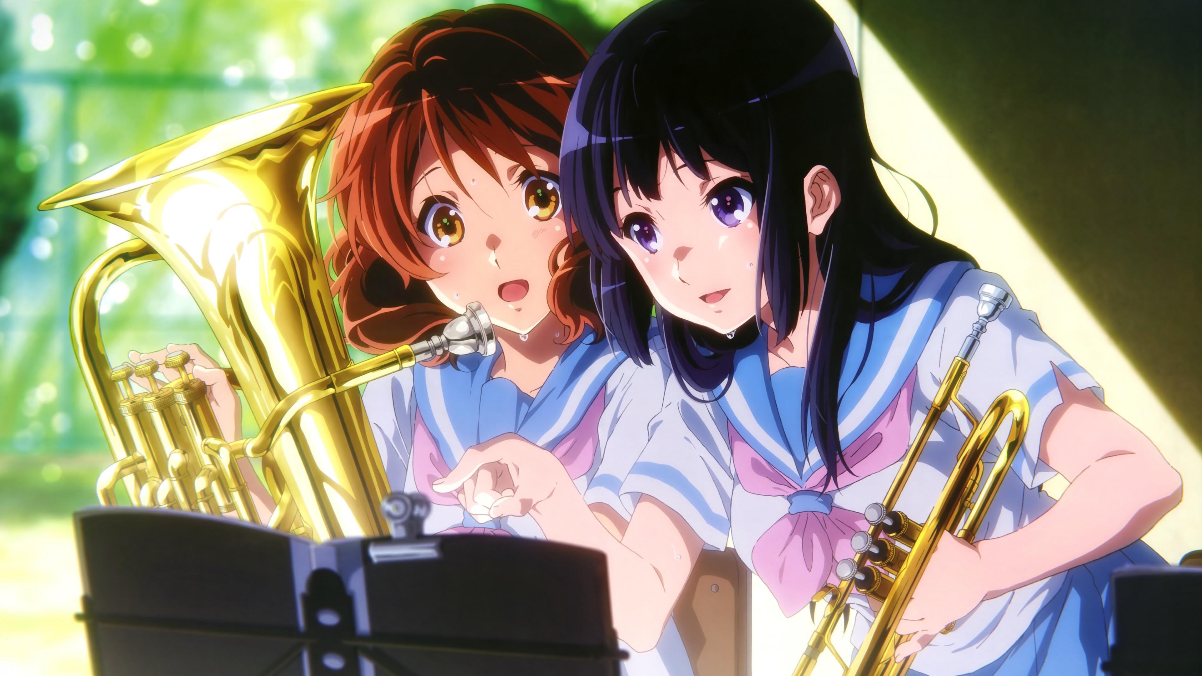 Anime Kumiko Oumae Hazuki Katou Sound Euphonium Girls 2121 3840x2160