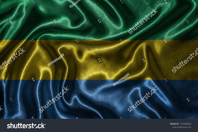 Gabon Flag Fabric Flag Gabon Country Stock Photo Edit Now 1500x1000