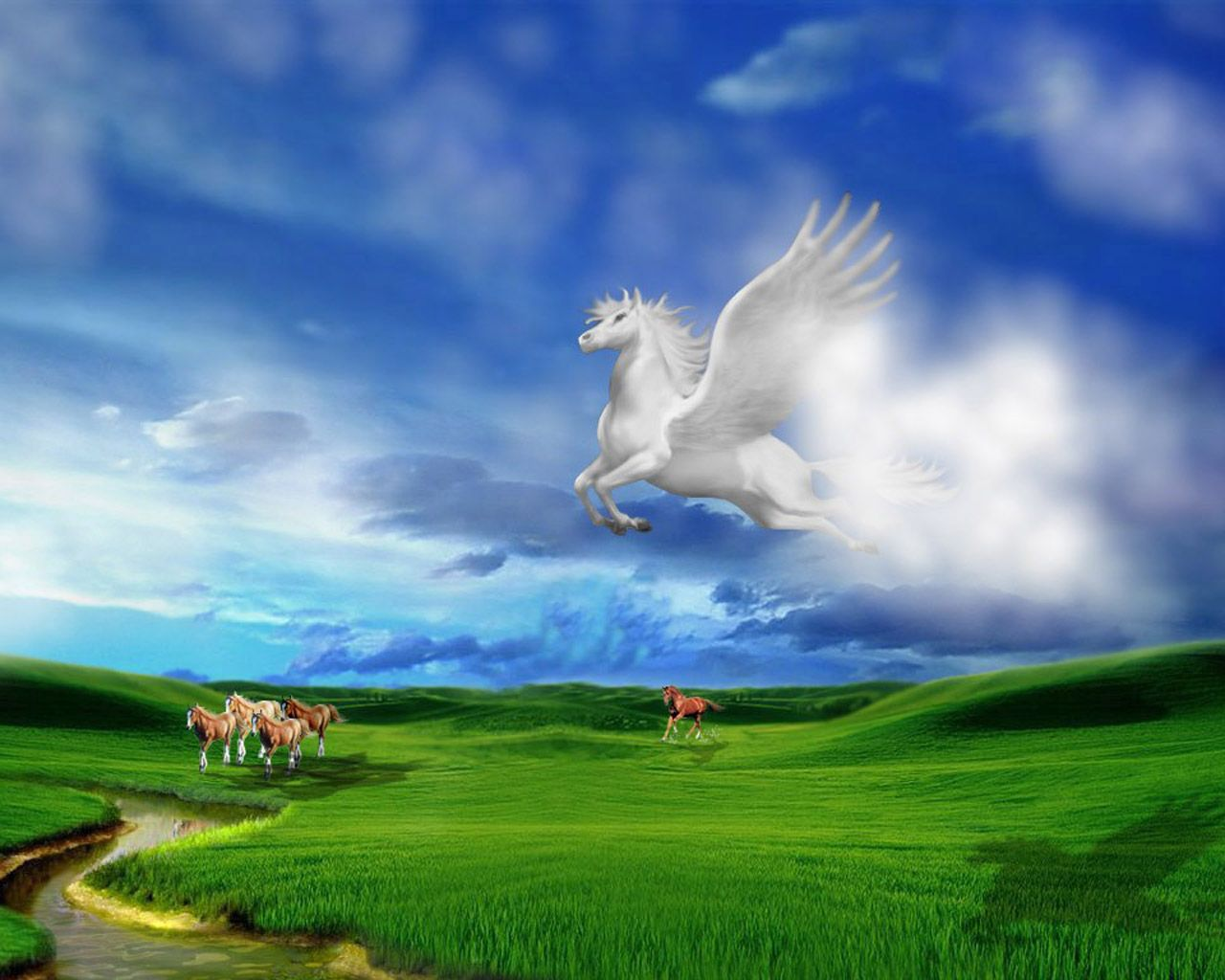 Pegasus Desktop Backgrounds HD Wallpaper 3D Abstract Wallpapers 1280x1024