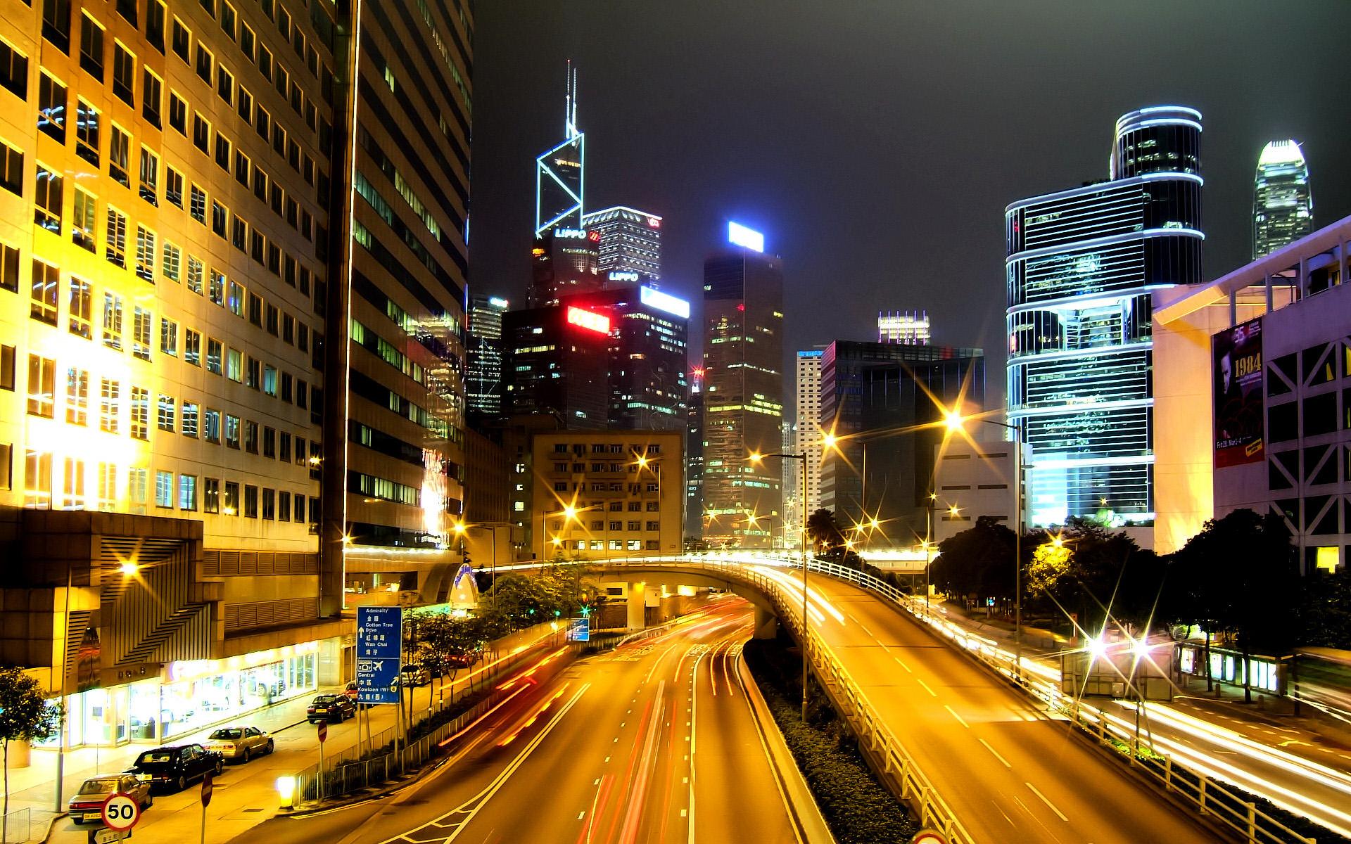 Hong Kong City Nights HD Wallpapers HD Wallpapers 1920x1200