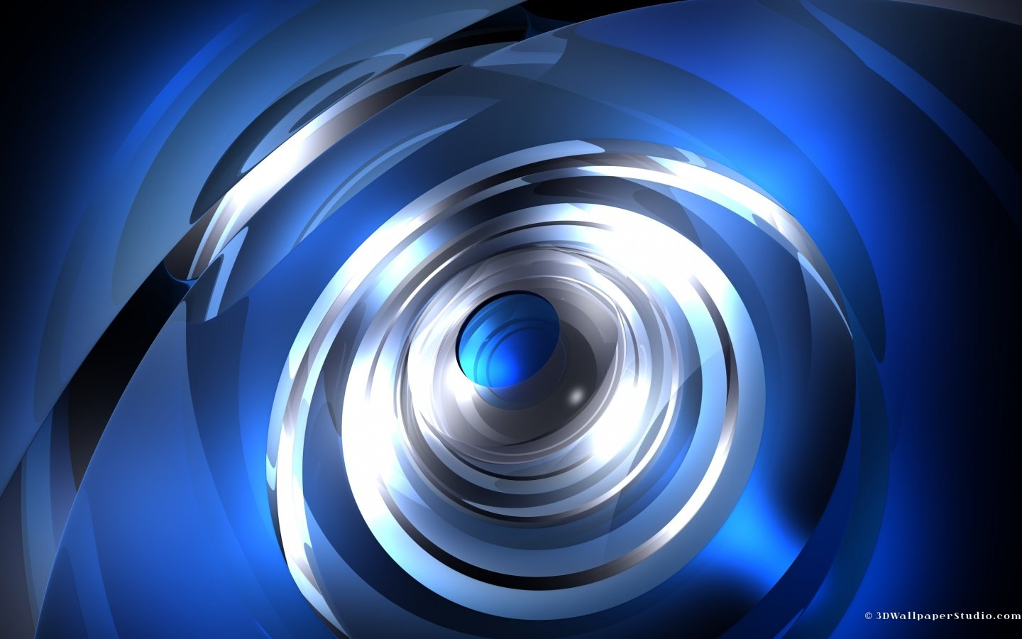 3D Wallpaper Moving blue 3d abstract 1440 x 900 1440x900