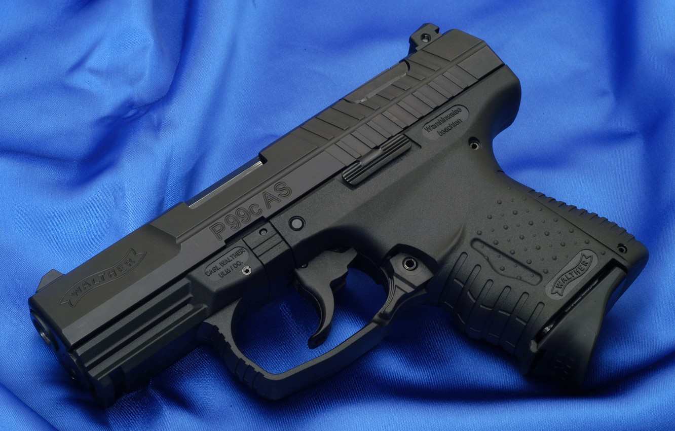 Wallpaper gun blue fabric walther p99 compact images for 1332x850