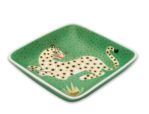 Waylande Gregory Leopard Green Tray by Elements 520x399