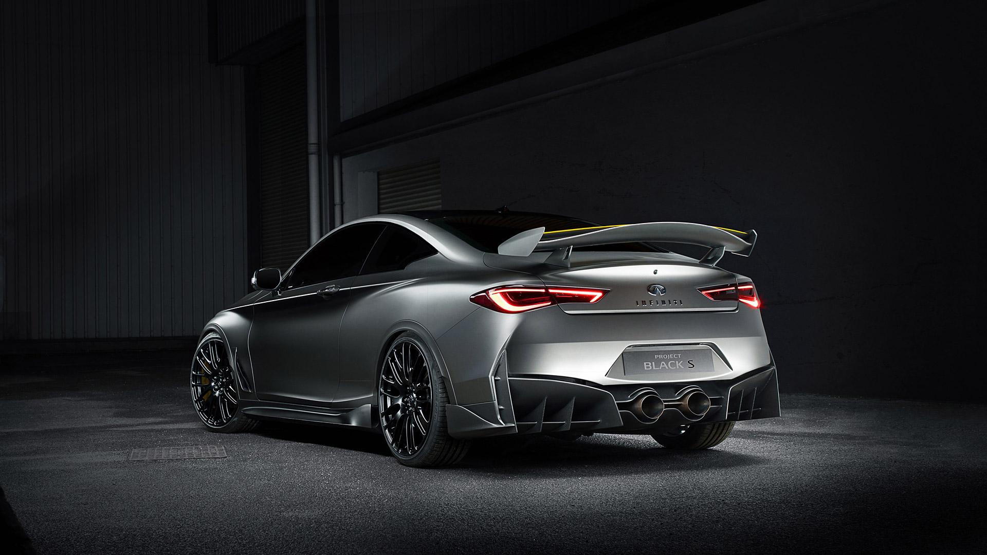 2017 Infiniti Q60 Project Black S Concept Wallpapers HD Images 1920x1080
