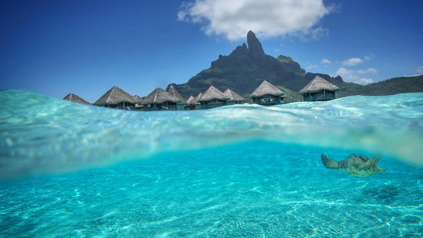 bora bora tahiti   162305   High Quality and Resolution Wallpapers 1366x768