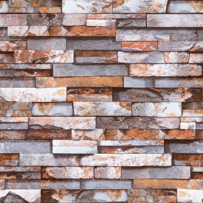 3D Real Look Realistic Natural Rusty Grey Brick Stone Wallpaper eBay 700x700
