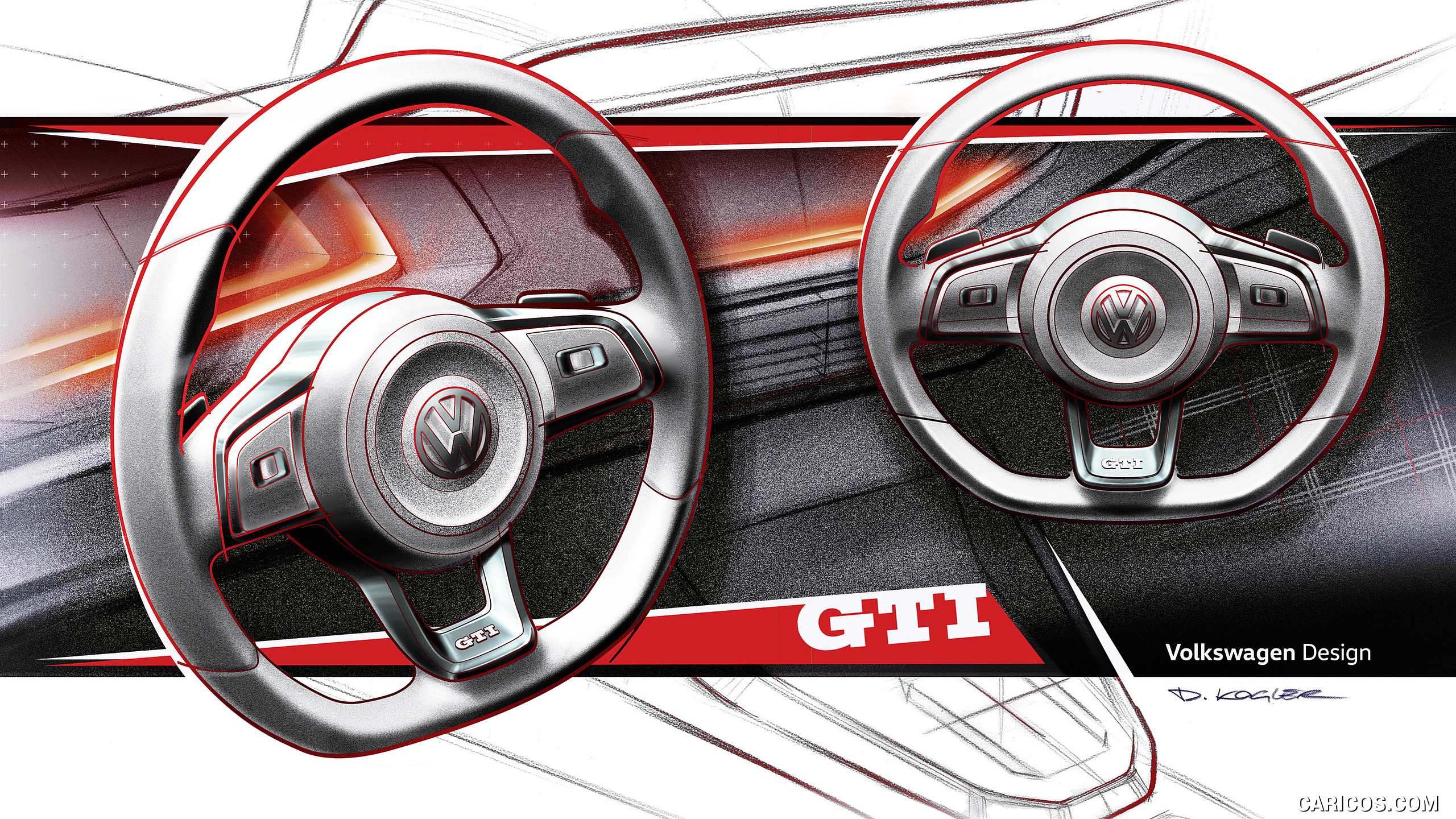 2018 Volkswagen Polo GTI   Design Sketch HD Wallpaper 66 2560x1440