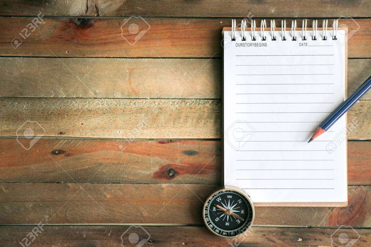 Notepad With Compass Wood Background Using Wallpaper Or 1300x866