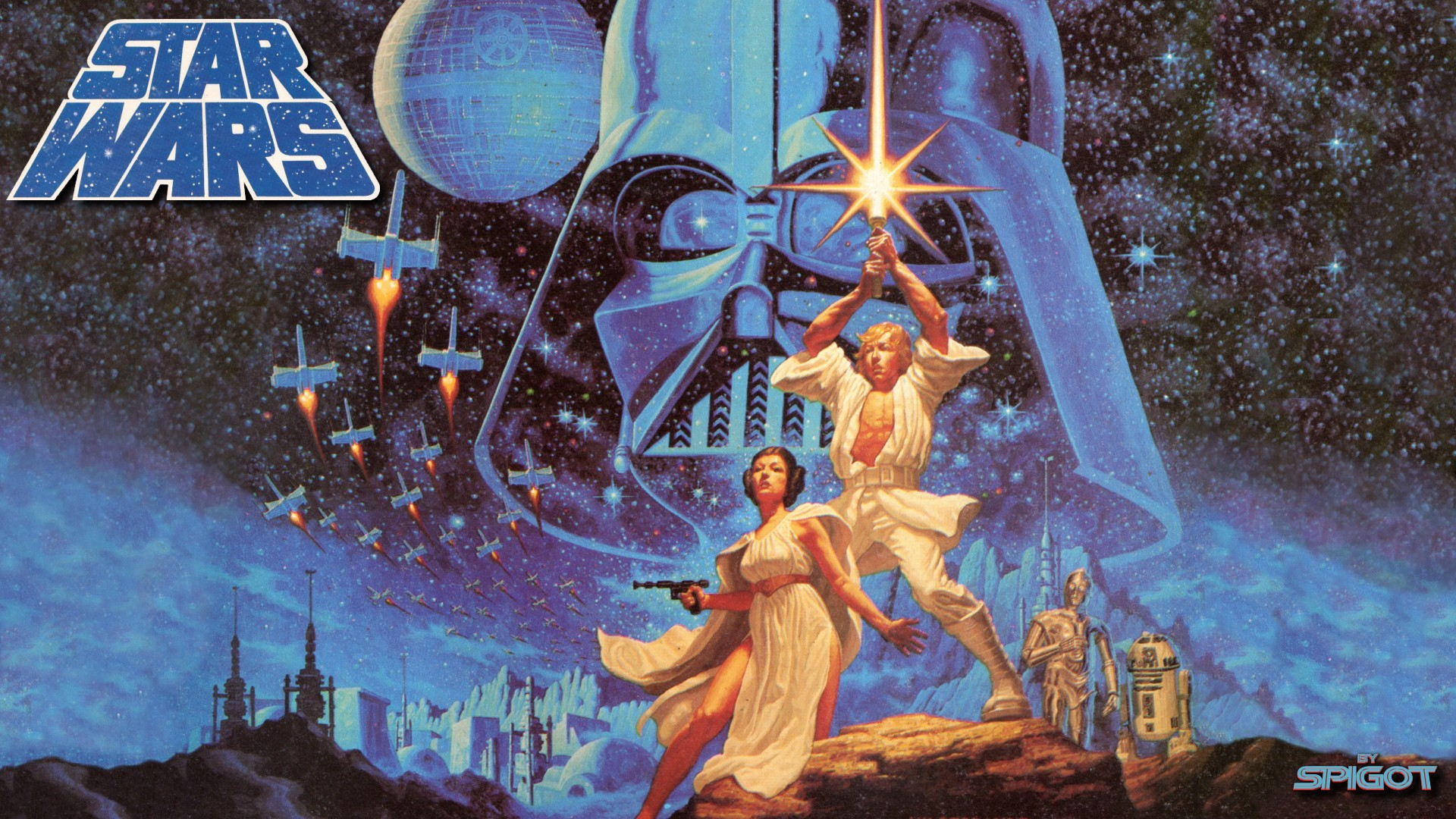 New Classic Star Wars Wallpaper George Spigots Blog 1920x1080