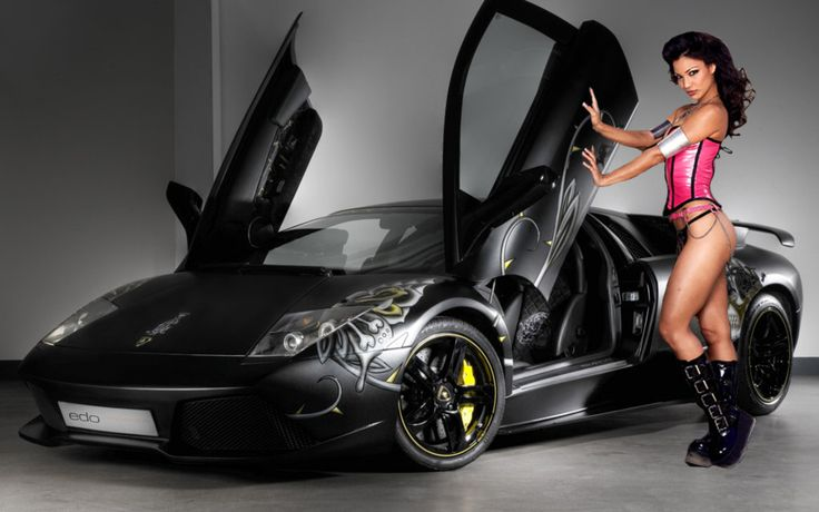 Girls and Muscle Cars Wallpaper Download Edo Lamborghini Murcielago 736x460