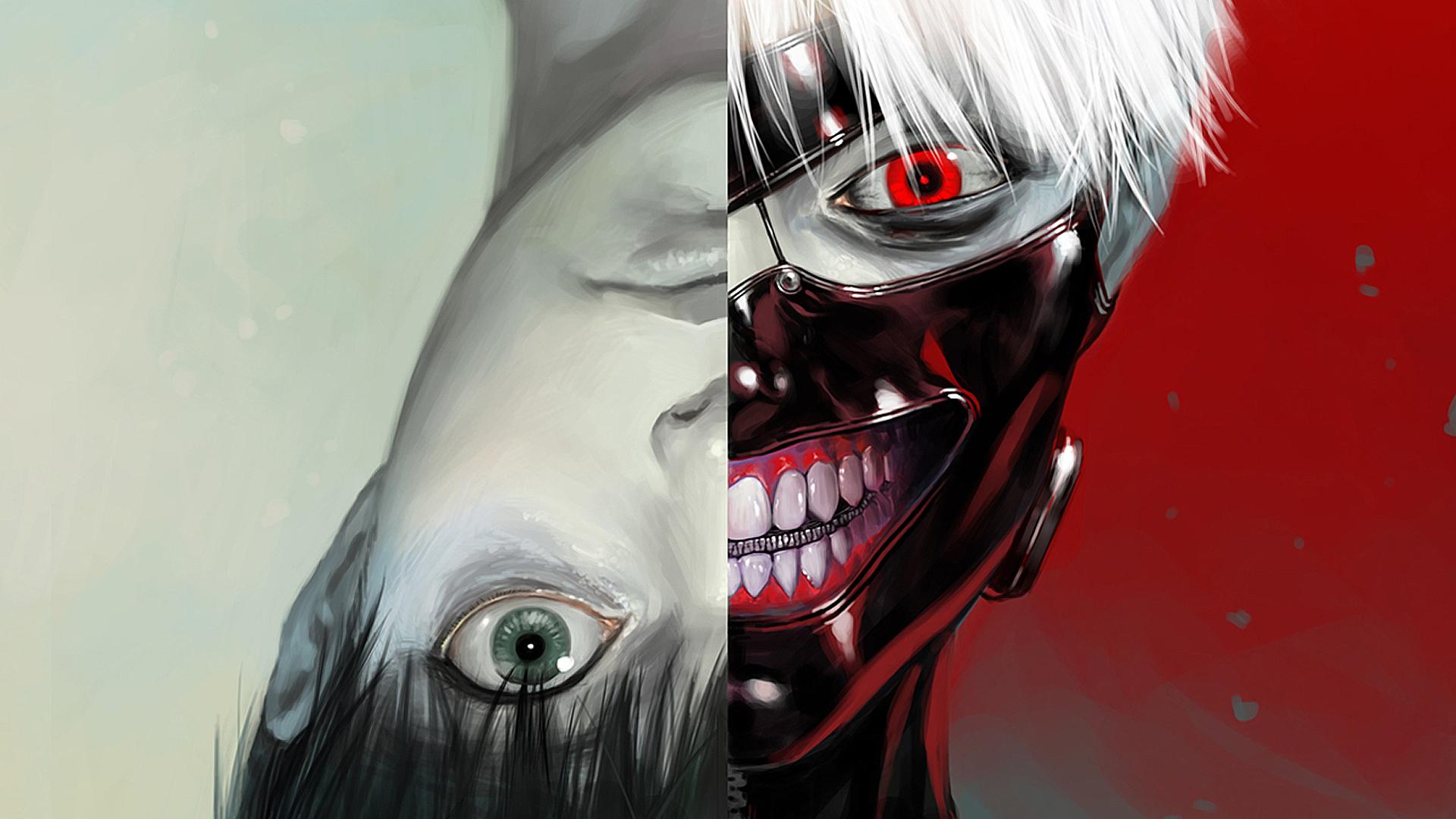 Ken Kaneki Tokyo Ghoul Anime mask HD 1920x1080 1080p wallpaper and 1920x1080