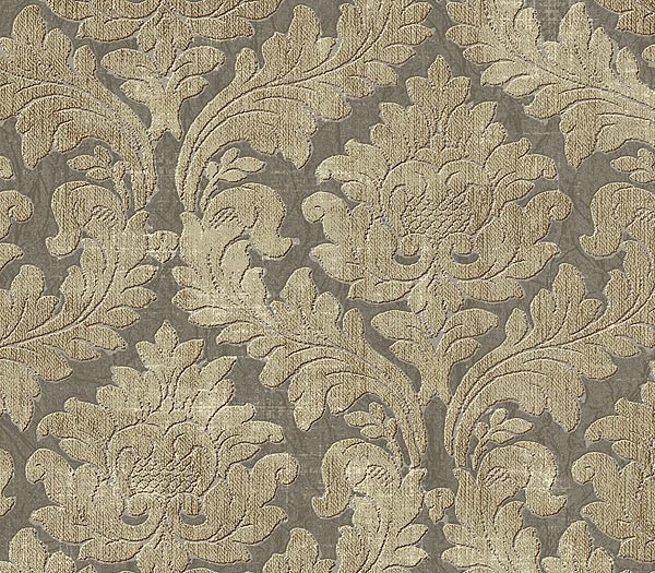 Details about Wallpaper Designer Cream and Beige Damask on Gray 600x525