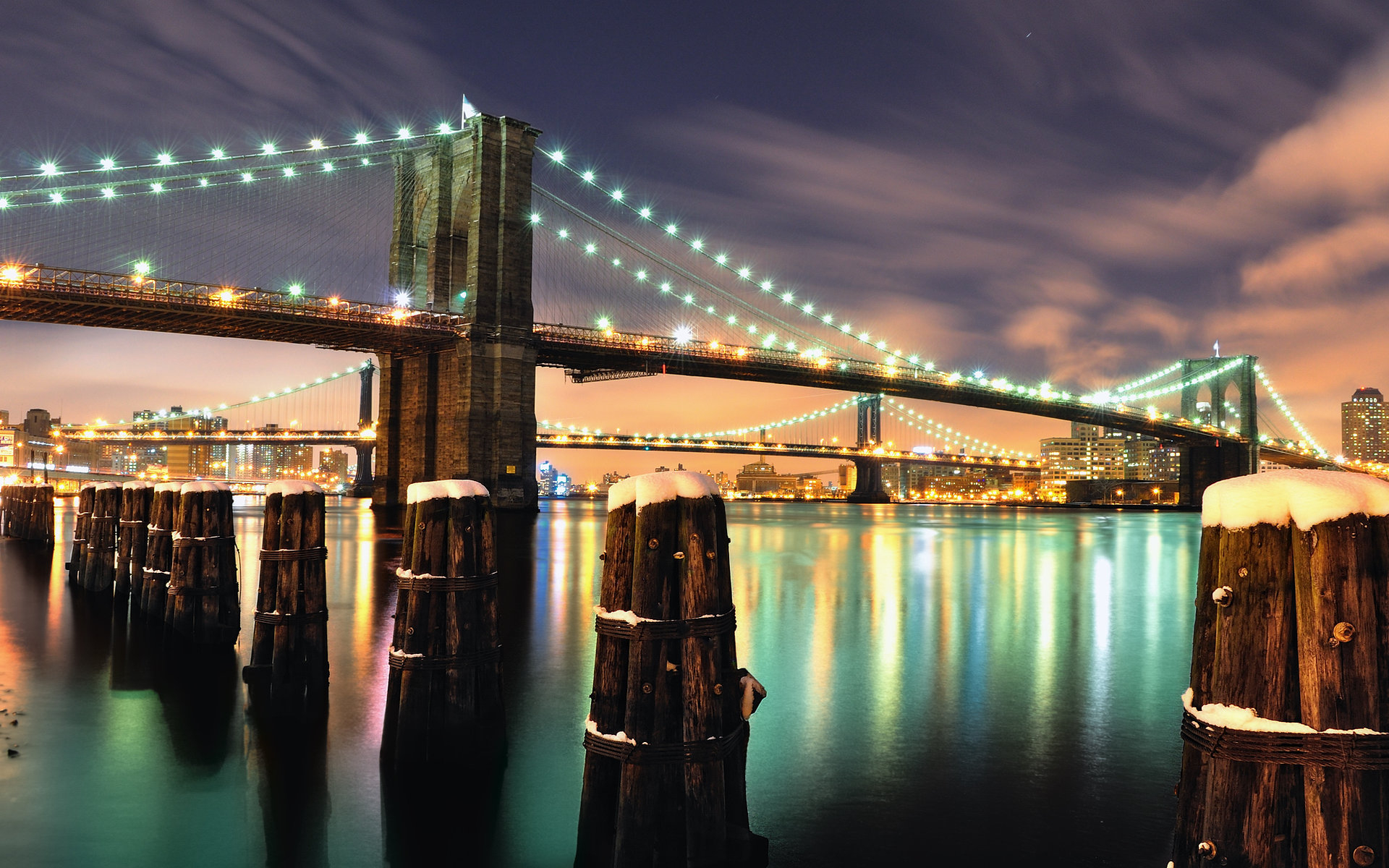 New York Brooklyn Bridge wallpaper - 328424