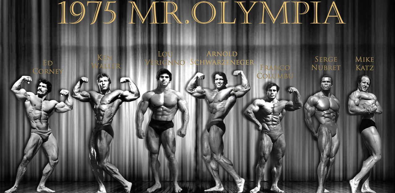1975 Mr Olympia and Pumping Iron Cast by Bigmelin 1279x624