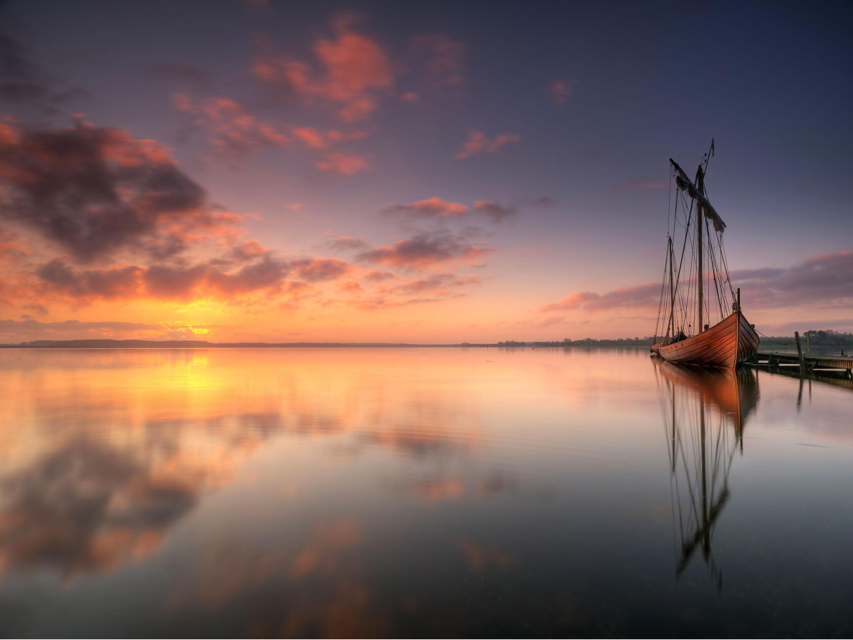 The wallpaper of beautiful Viking ship in Denmark   Beach Wallpapers 2800x2100