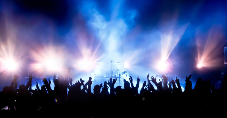 Crowd at Concert Wallpaper Wall Decor 769x400