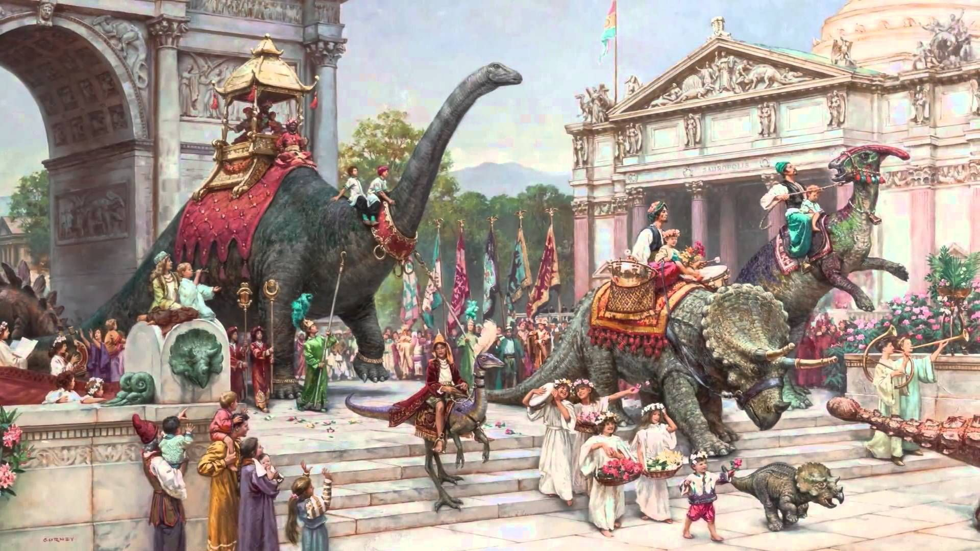 DINOTOPIA Art Science and Imagination Art Fantasy art 1920x1080