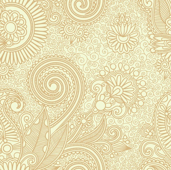 Abstract Seamless Floral Pattern Background Vector Graphics 550x546