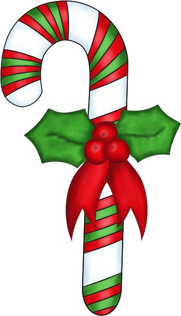 candy cane decoration clip art image decorated christmas candy cane 364x636