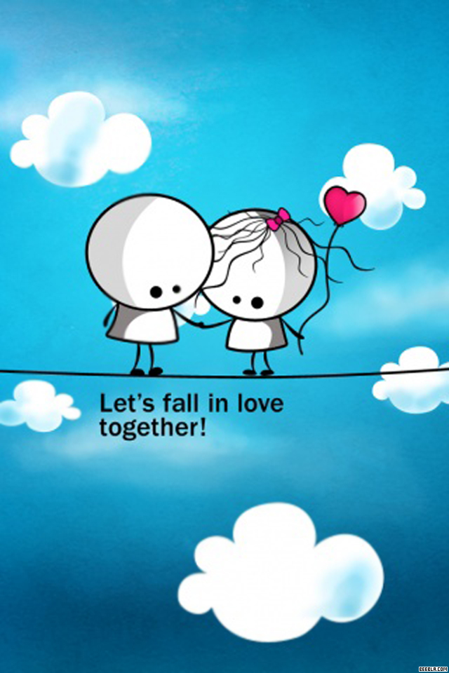 Free Download Lets Fall In Love Together Wallpaper Iphone 5