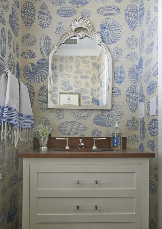 room beach cottage powder room beach cottage powder room wallpaper 523x740