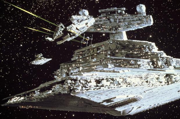 Star Wars   Millennium Falcon Attack   Wall Mural Photo Wallpaper 620x412