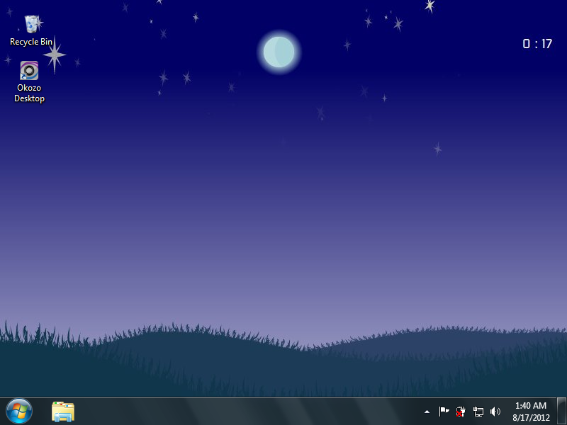 clock wallpaper for windows xp free