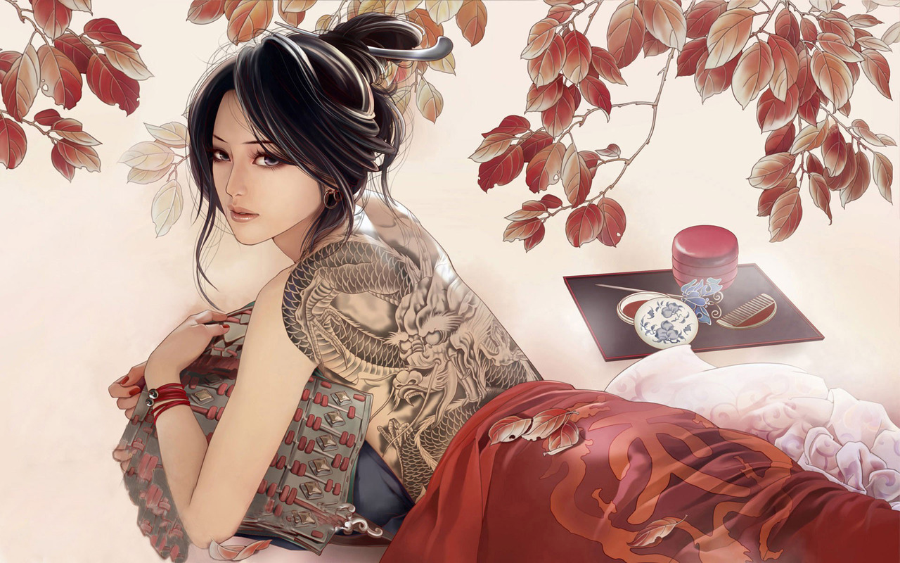 Modern geisha wallpaper 15329 1280x800