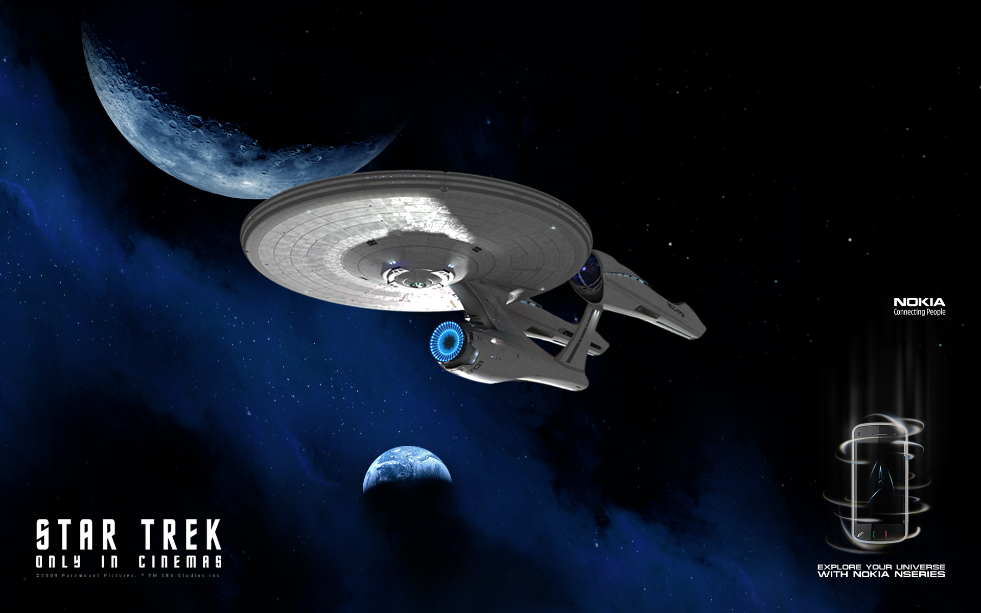 background star trek diventa screensaver mobile nokia 1920x1200