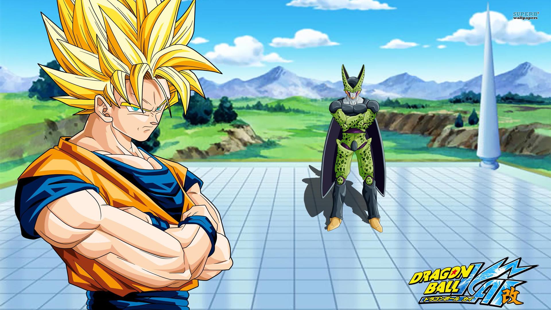 Free Download De Pantalla Goku Vs Cell Hd 1920x1080 Dibujos