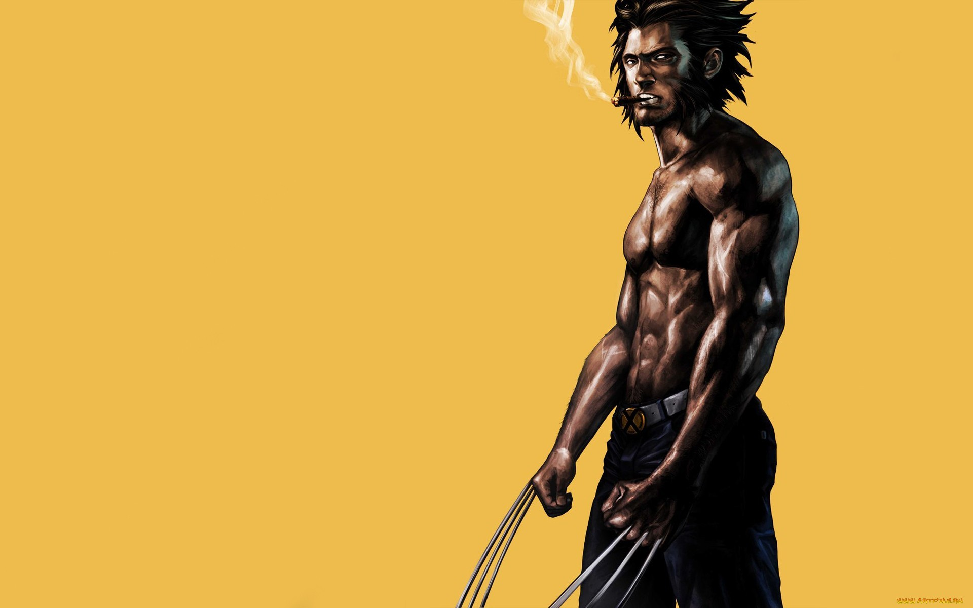 Wolverine Marvel Drawing Smoking Cigar wallpaper 1920x1200 74666 1920x1200