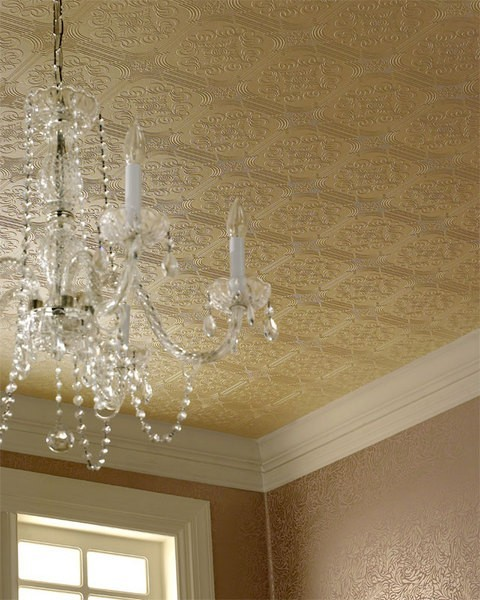 Using Faux Tin Ceiling Wallpaper Better Home Guide 480x600