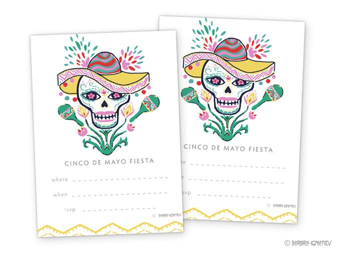 Fancy Wallpaper Printable Invitation Cinco De Mayo Skull 675x506